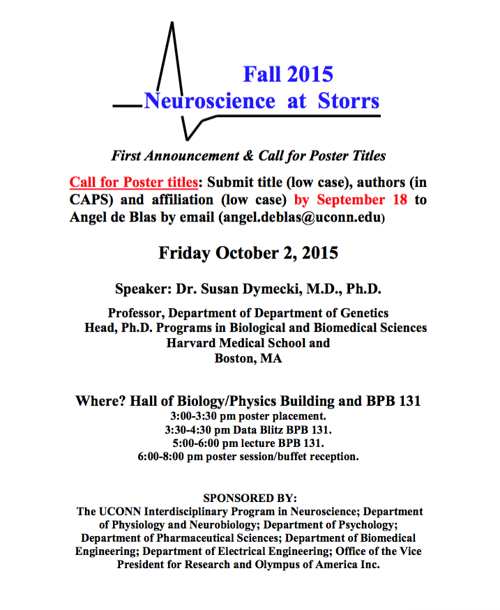 Call for papers Neurosciwnce at Storrs 2015